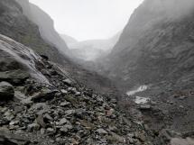 Murky view of Glacier terminal