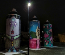 Street art filling the empty spaces
