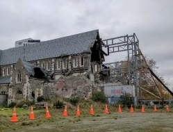 what remains of the old cathedral