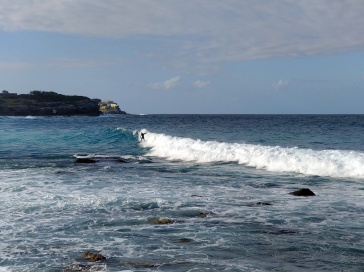 Surfer along Bondi-Coogee track
