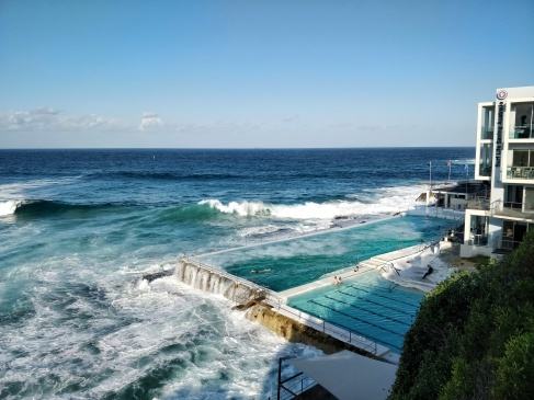 Famous Bondi beach public pool