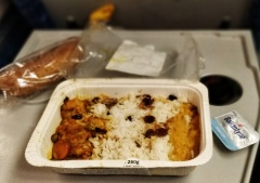 Anyone who complains about plane food clearly hasn't tried train food.
