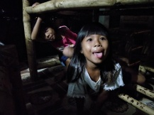 Tania and Talia, playing with us from under the dinner table.