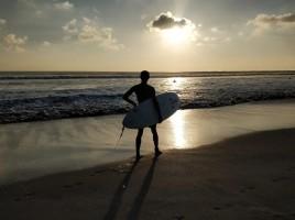 Surfer admiring the ocean.