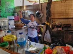 Gili Mama - the amazing chef at Burger Harbour.