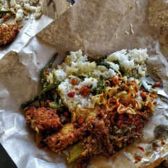 Authentic nasi campur.