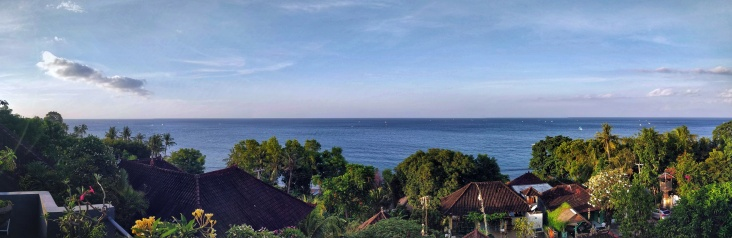 Panoramic view from our guesthouse.