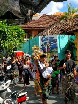 Funeral procession (photo taken in Kuta).